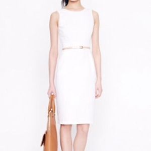 J. Crew back bow white dress in size 2